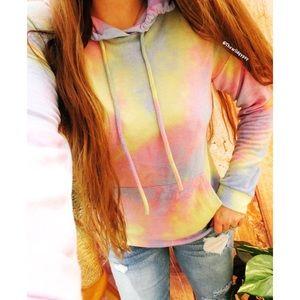 Ultra soft pastel tie dye popover hoodie 🌿